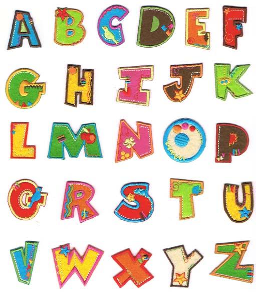 Buchstaben zum aufkleben