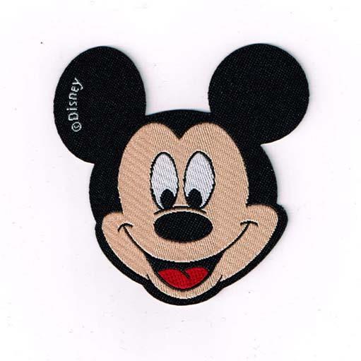mickey mouse kopf applikation patch zum aufb geln ca 6 5 cm ebay. Black Bedroom Furniture Sets. Home Design Ideas